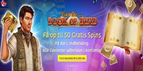 PlayOjo free spins til Book of Dead